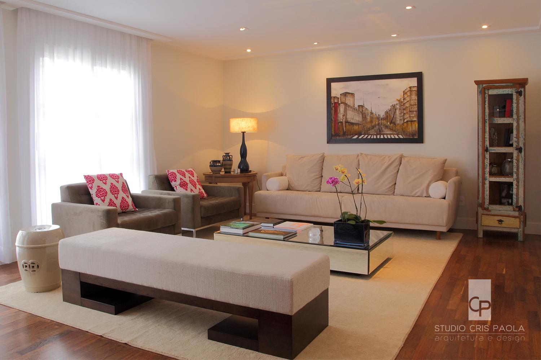 Sala-de-estar- com decoração clean