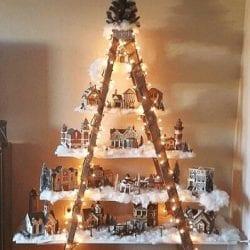 árvore de natal de escada
