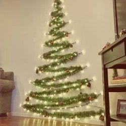 árovre de natal de parede