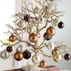 árvore de natal de galhos