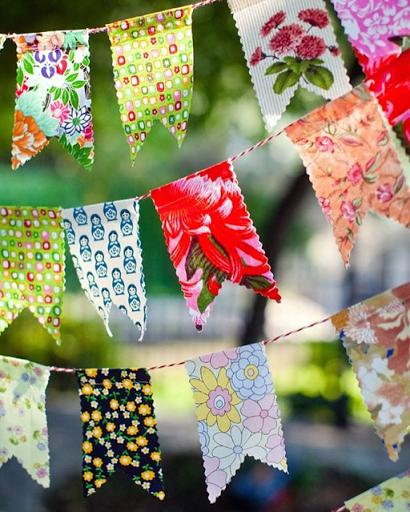 Bandeiras para mesas de festa junina