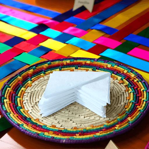 Guardanapo criativo para mesas de festa junina