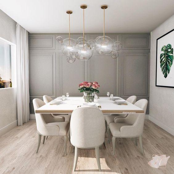 Sala de Jantar com piso vinílico- Tendência e praticidade em revestimentos