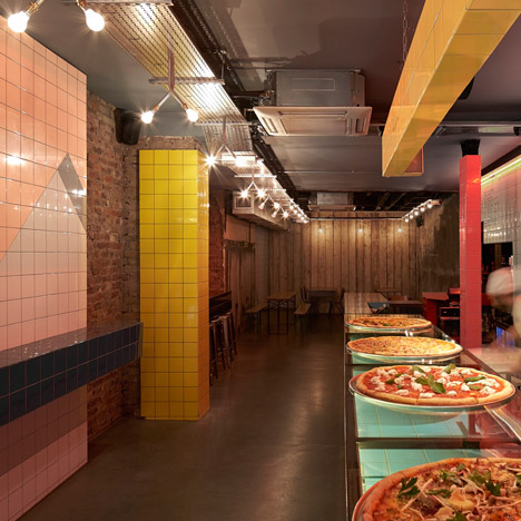 Pizzaria com design incrível Londres