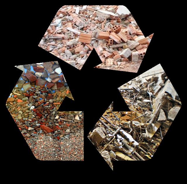 Matérias-primas do reaproveitamento - construção civil