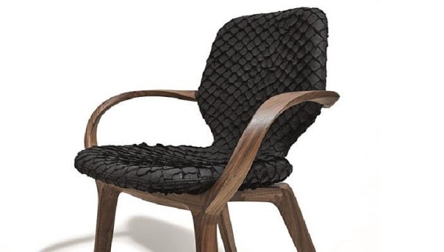 Matérias primas do reaproveitamento- mobiliário feito com folha de bananeira