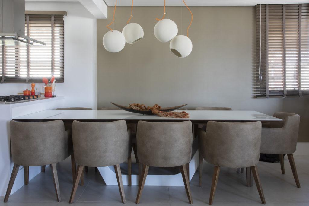 Ambientes Integrados- Projeto Brooklin Sala de jantar