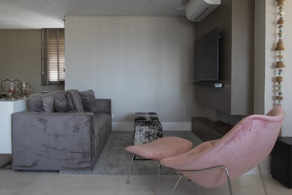 Ambientes Integrados- Projeto Brooklin Sala de estar