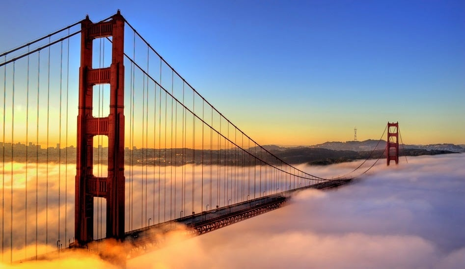 Golden Gate com neblina