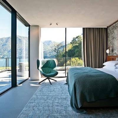 Quarto de hotel com vista para montanhas