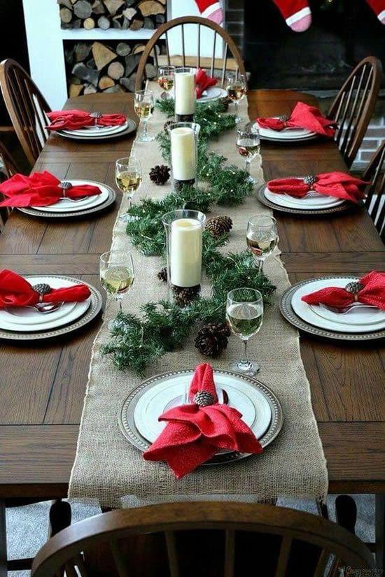 dicas natalinas : Mesa posta natal vermelha