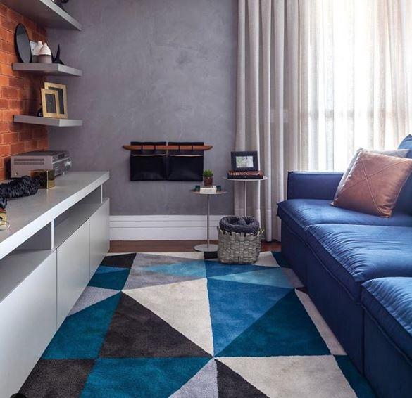 Blue classic tapete e sofa