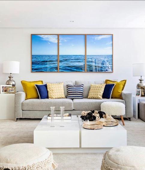 Blue classic quadros e almofadas