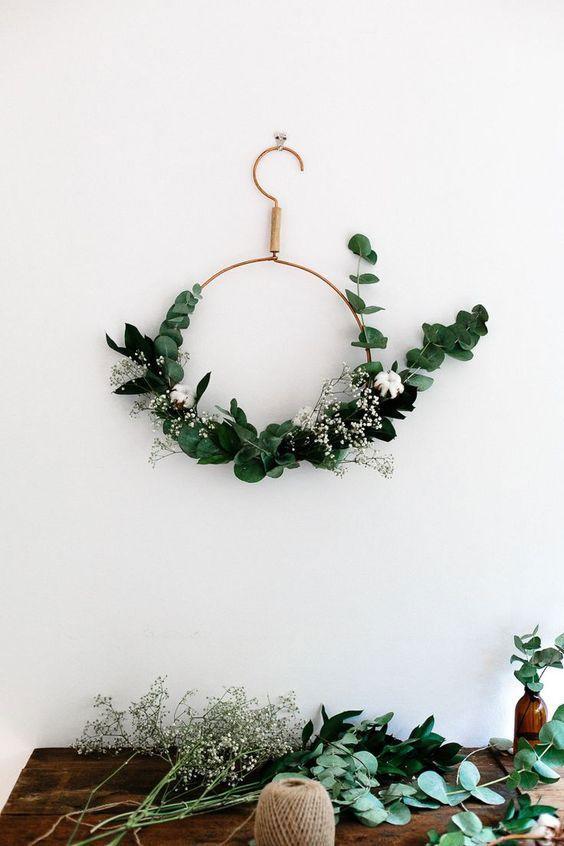 dicas natalinas : Guirlanda de natal minimalista