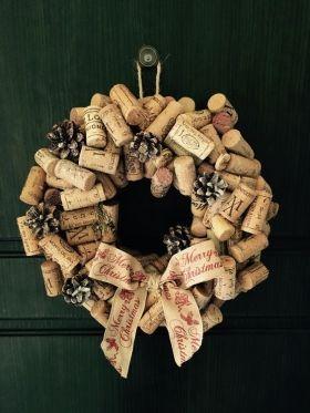 dicas natalinas : Guirlanda de rolha de vinho