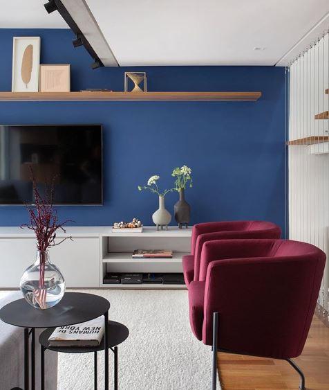 Blue classic na parede
