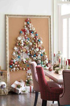dicas natalinas : arvore de natal no quadro