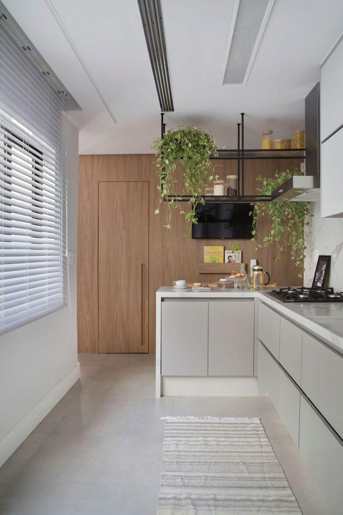 cozinha com plantas -dicas de feng shui