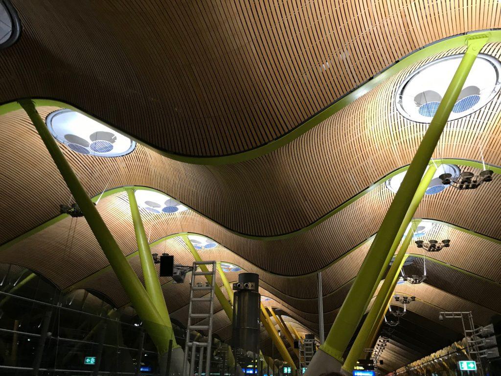 teto do aeroporto de Madri