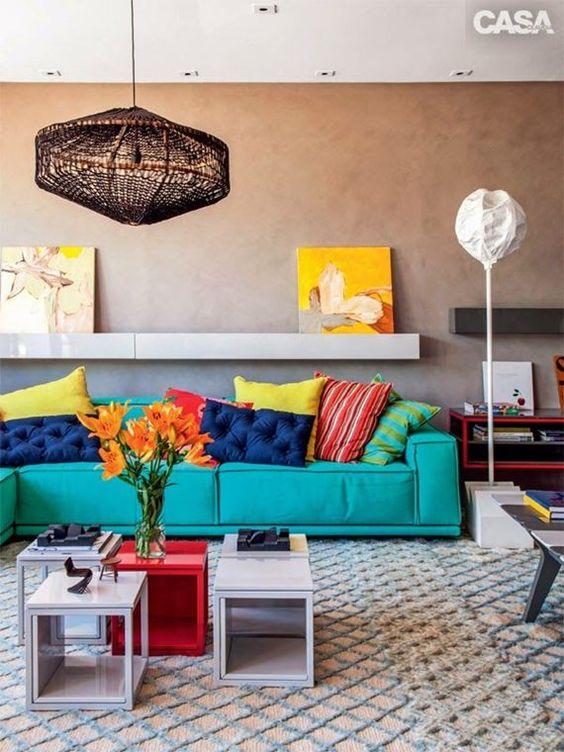ambiente  colorido para decoração de verão