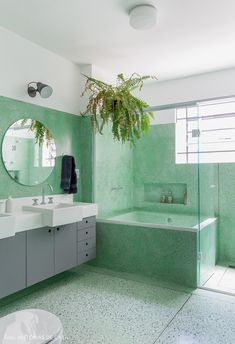 banheiro verde -dicas de feng shui