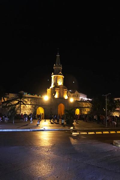 Entrada da cidade Murada e m Cartagena
