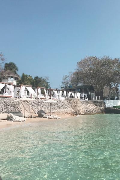 Beach Club na Ilha de Bora Bora - Cartagena