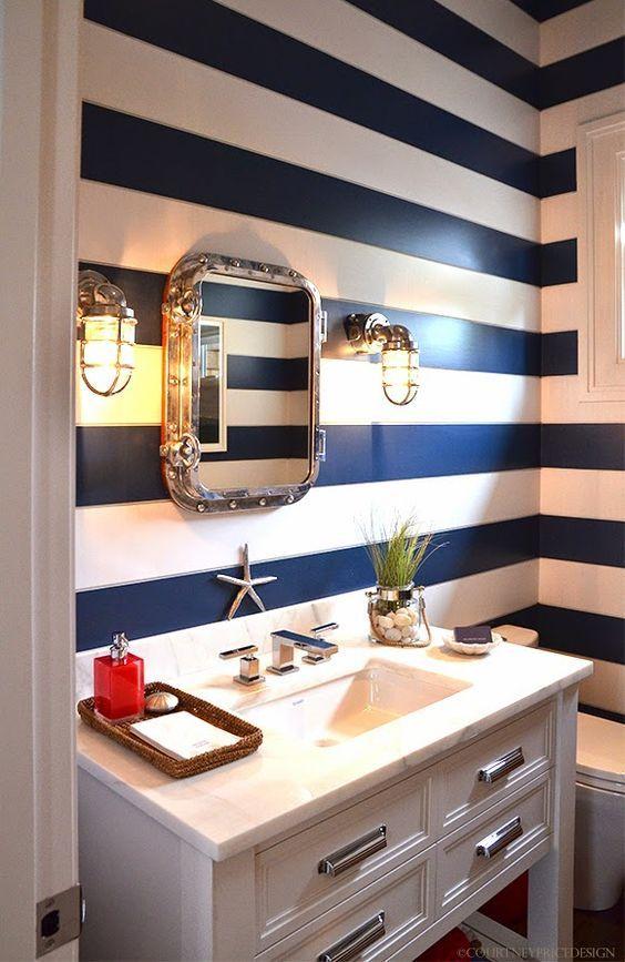 banheiro estilo navy