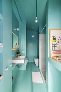 Banheiro todo verde