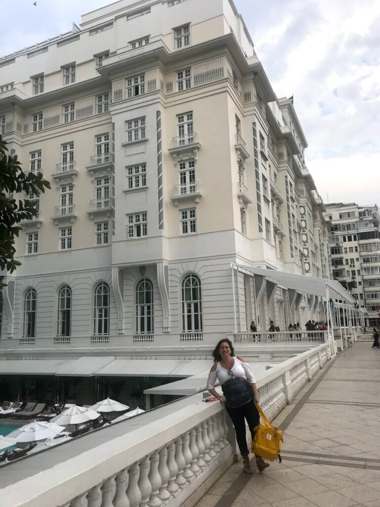 arquiteta Karina Korn no Copacabana Palace
