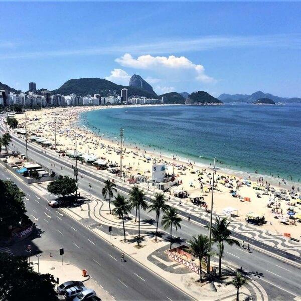 Praia de Copacabana no Rio de Janeiro