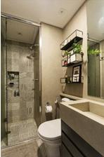 prateleiras para decoração no banheiro
