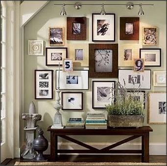 mistura de quadros e texturas na mesma parede