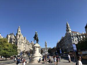 praça do centro de Porto