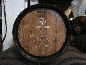 barril na vinícola Ramos Pinto