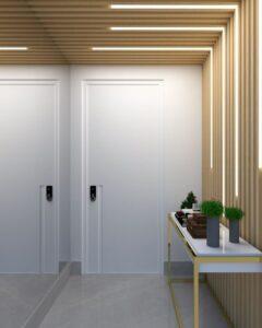 Hall de entrada com iluminação diferente- fitas de Led