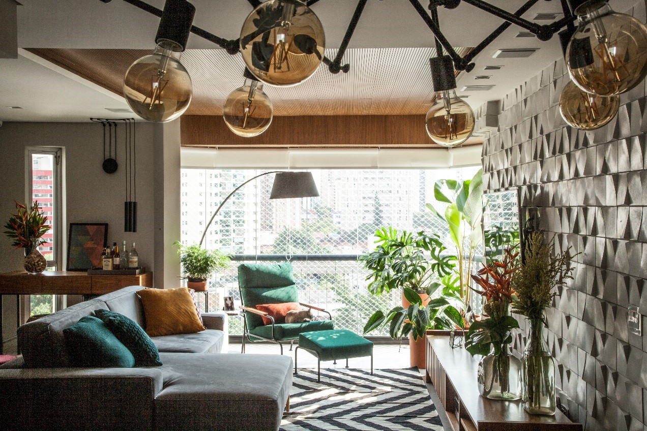 Varanda integrada com a sala de estar