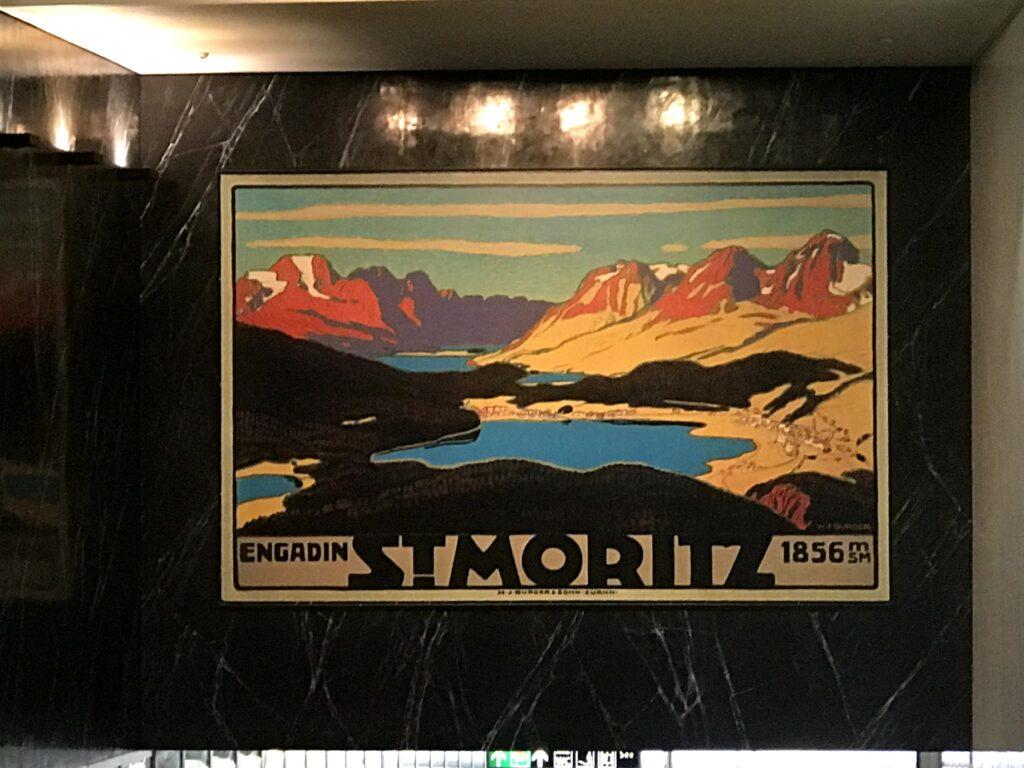 quadro com a paisagem de St. Moriz