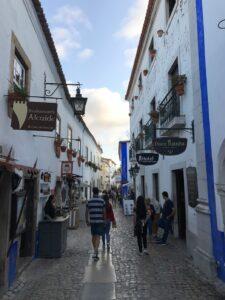 centro da cidade de Óbidos