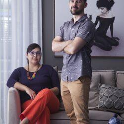 os arquitetos Erika Mello e Renato Andrade