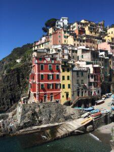 casas coloridas na Costa Amalfitana- Itália