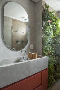 jardim vertical dentro do box do banheiro