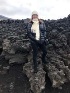 Karina Korn no Monte Etna