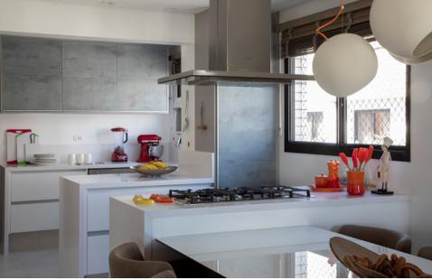 Cozinha integrada com área social