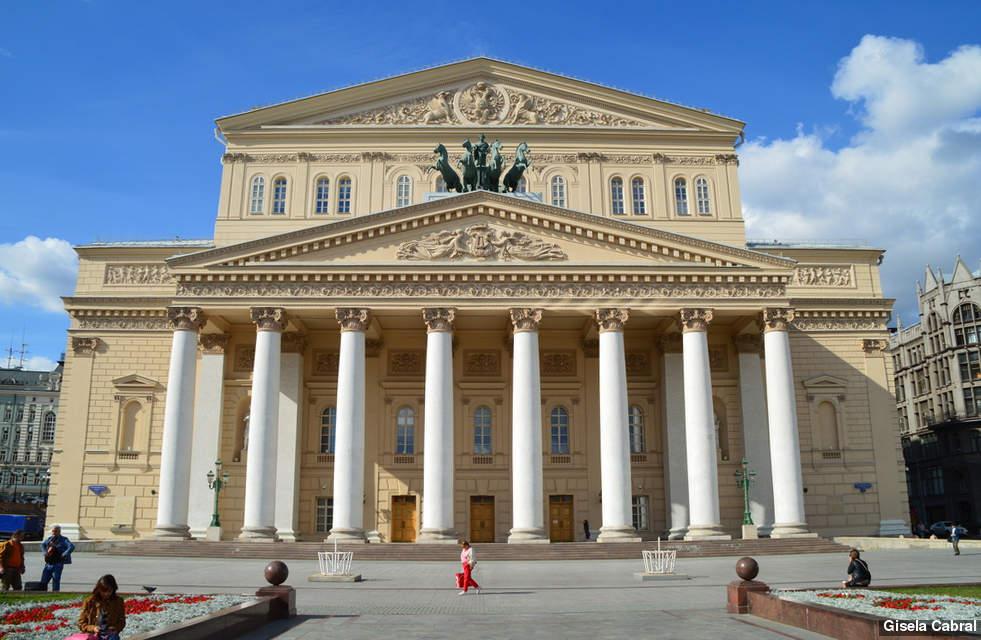 Fachada teatro de Bolshoi